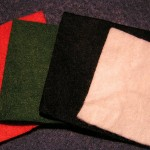 Felt is an organic fabric that is produced from wool.